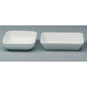 "Stackable square porcelain bowl 4"" / 11cm white"