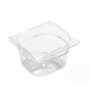 """Stainless steel 18/10 gastronorm container GN 1/3 17.6x 32.5 x 2cm/6.6"""" x 12.6"""" x 0.8"""" - Lacor"""