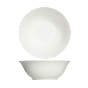 """Round porcelain cup white 9"""" / 23cm - Singly sold"""