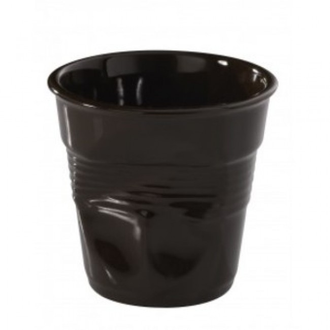 Porcelain chocolate crumpled tumbler - Capuccino cup 6oz / 18cl