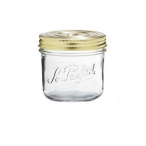 Glass terrine jar 18oz / 500g with 100mm screw lid