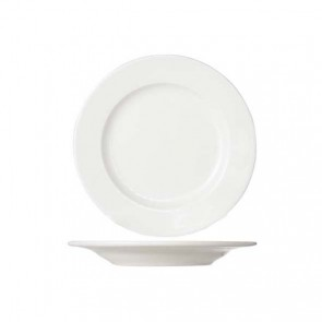Round white cream dessert plate 21 cm high quality porcelain - Set of 6