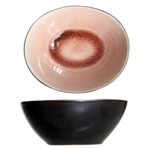 "Round black and rose cup 4"" / 10cm - Set of 6"