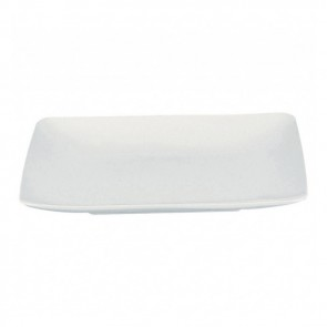 "Square soup plate 8"" / 20cm white - singly sold"