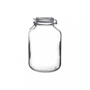 Round clear canning jar 5 L