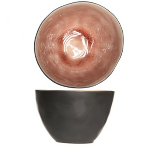 "Cup black and rose 4"" / 10cm - Set of 6"